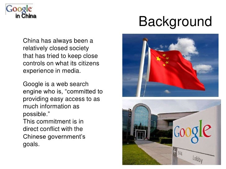 google inc in china case analysis This study focuses on the multinational fast food giant mcdonald's corporation, with particular attention paid to the corporation's situation in china.