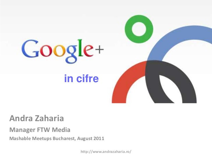 in cifre<br />AndraZaharia<br />Manager FTW Media<br />MashableMeetups Bucharest, August 2011<br />http://www.andrazaharia...