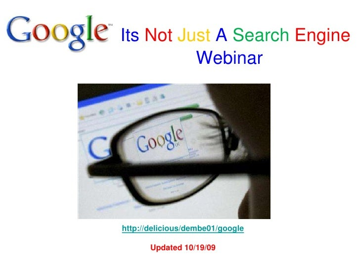 Googleitsnotjustasearchengine2009