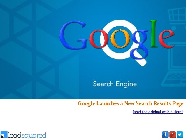 Google Launches a New Search Results Page
