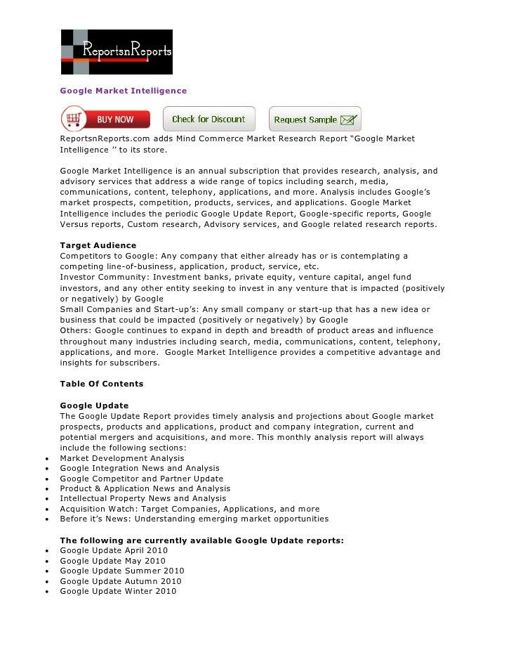 ReportsnReports - Google Market Intelligence