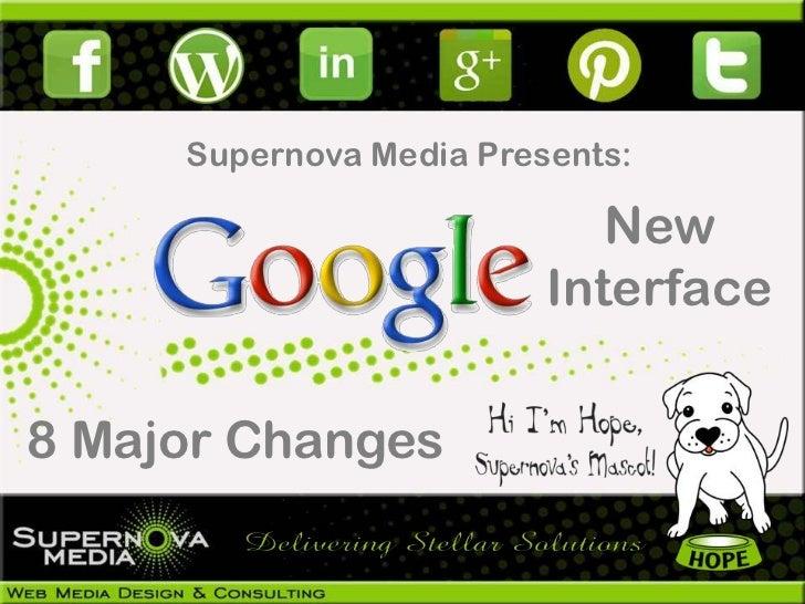 Supernova Media Presents:                            New                         Interface8 Major Changes