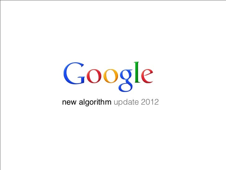 new algorithm update 2012