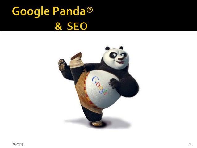Google Panda and SEO