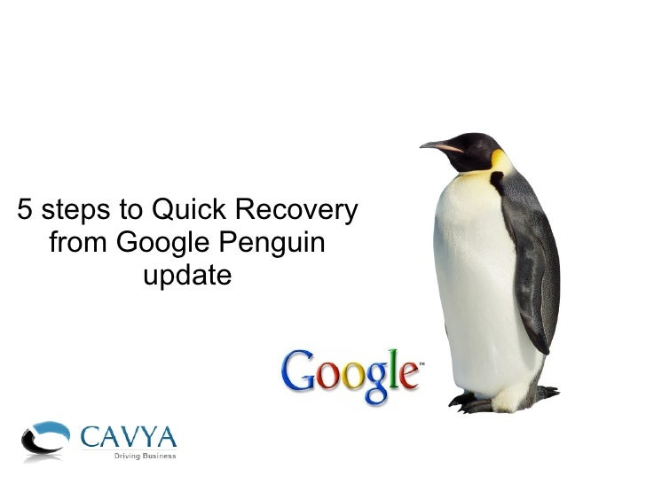 5 steps to Quick Recovery   from Google Penguin          update