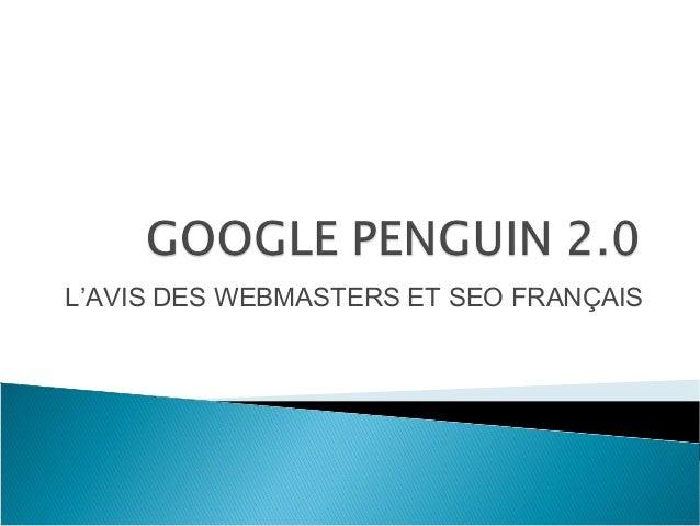 L'AVIS DES WEBMASTERS ET SEO FRANÇAIS