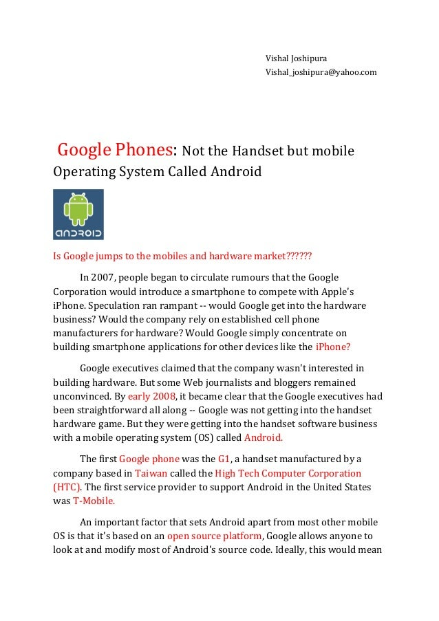 Google phones  -  android