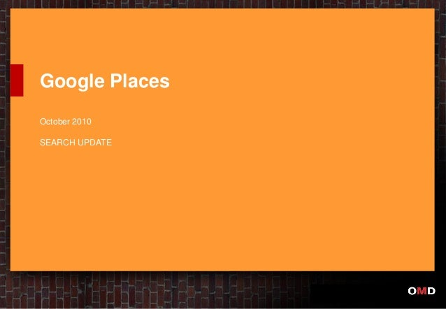 Google Places October 2010 SEARCH UPDATE