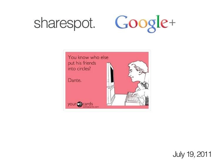 Google Plus Sharespot
