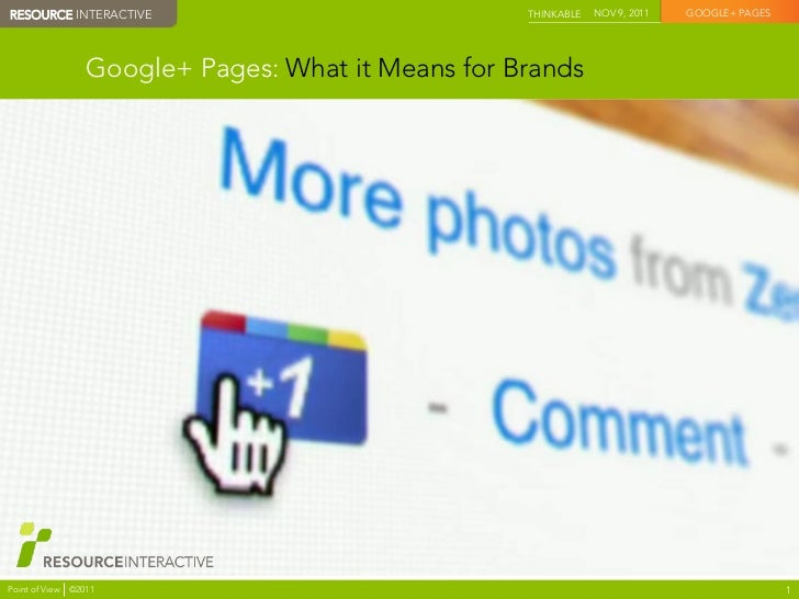 Google+ Pages: What It Means for Brands