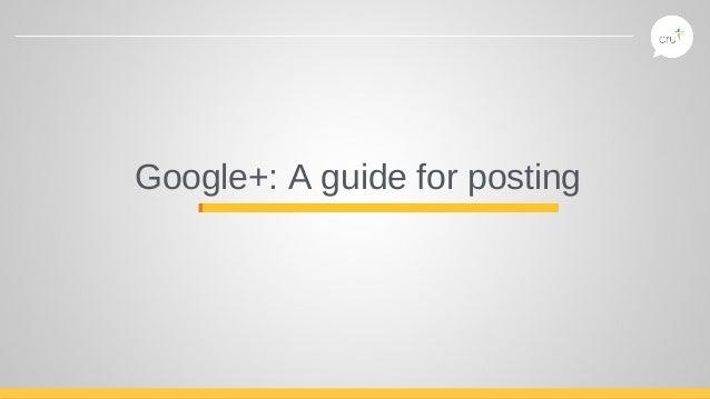 Google+ posting
