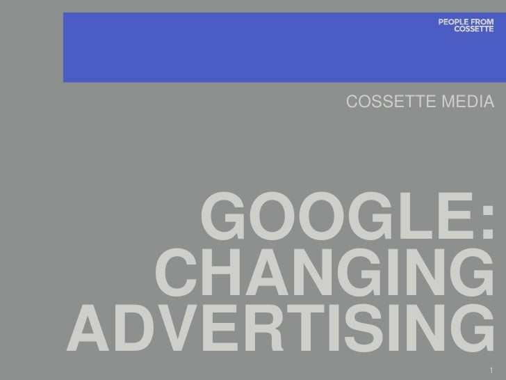 Google Advertising Landscape
