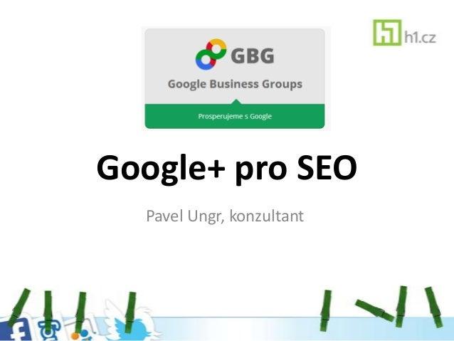 Google+ pro SEO