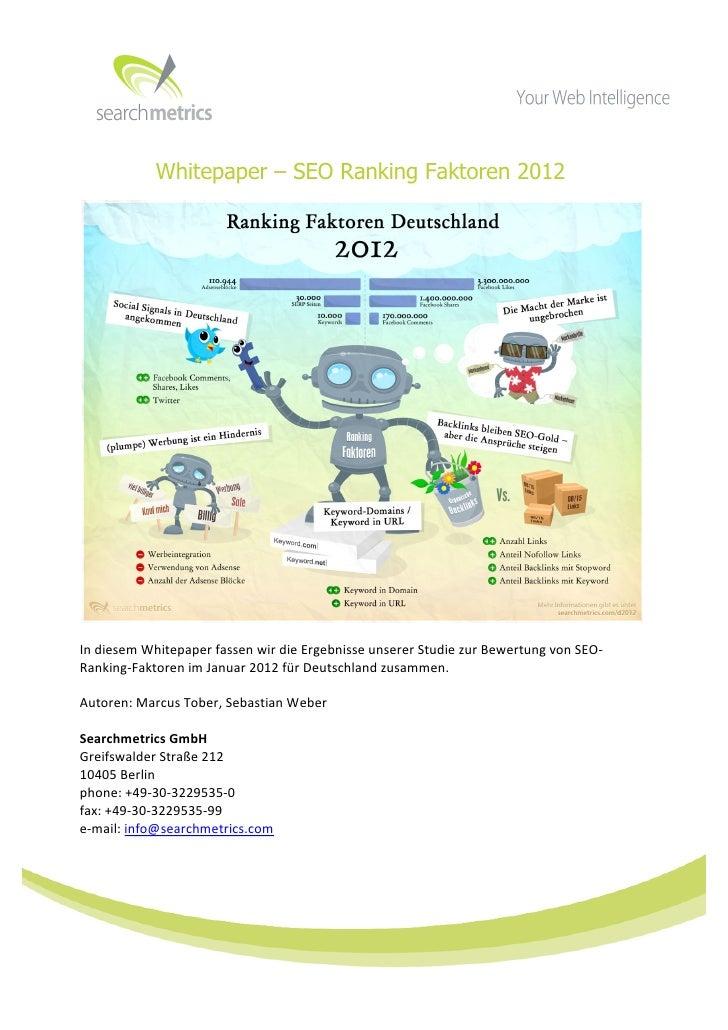 Whitepaper – SEO Ranking Faktoren 2012                                                                  ...