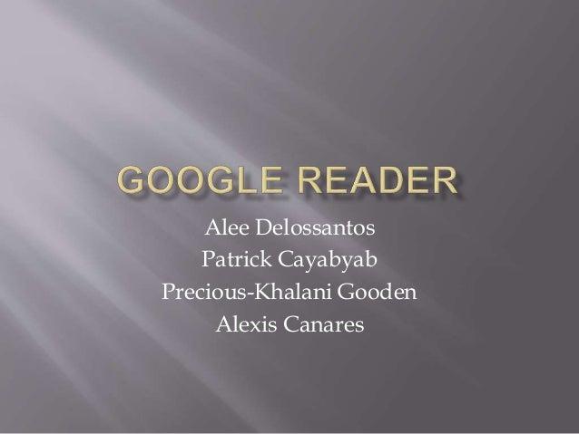 Alee Delossantos Patrick Cayabyab Precious-Khalani Gooden Alexis Canares