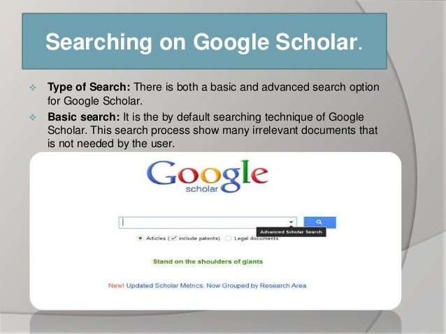 Google articles research