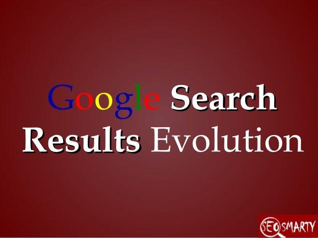 Google search results evolution