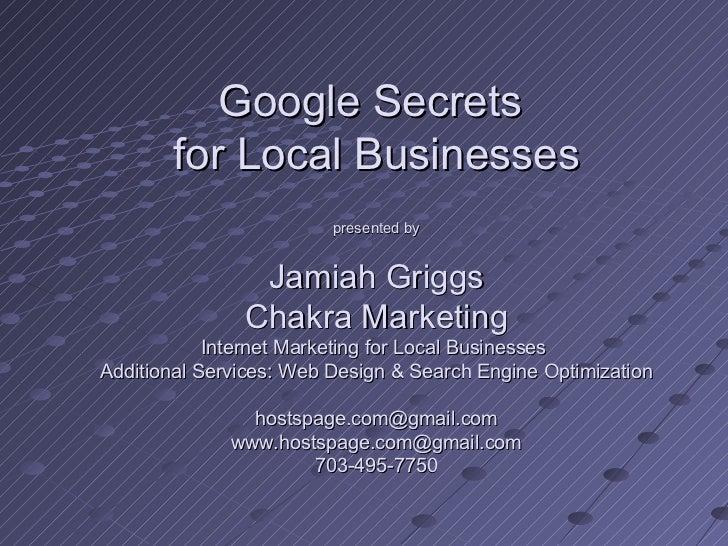 Google secrets workshop