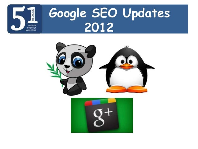 Google SEO Updates      2012