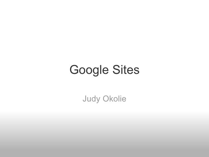 Google Sites Judy Okolie