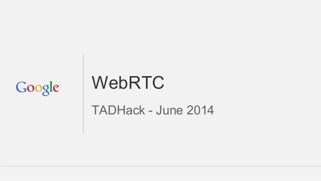 Google Presentation at TADHack