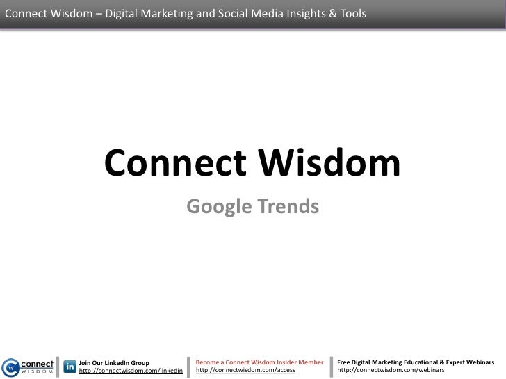 Google Trends - An Introduction to Google Trends