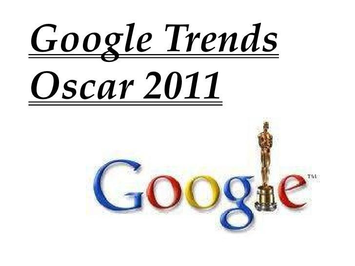 Google trends oscar 2011