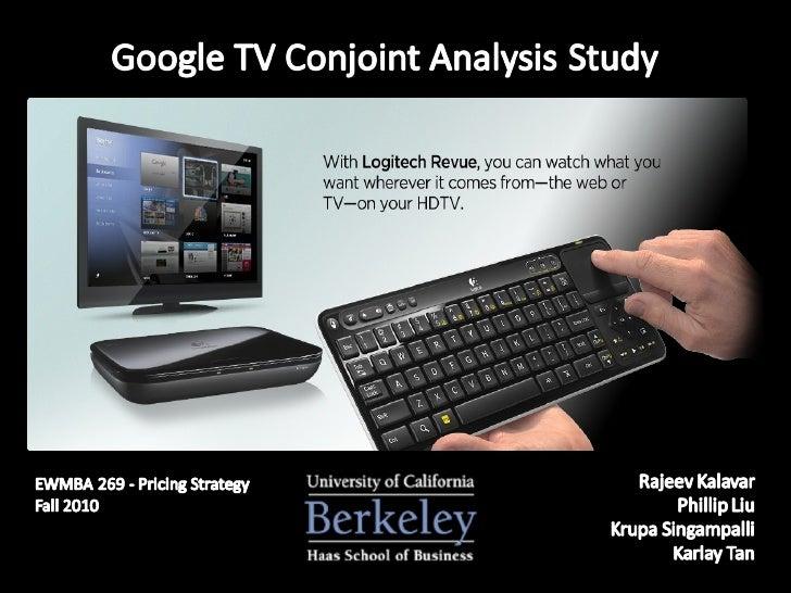 Google TV Conjoint Analysis Study