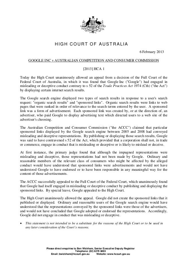 HIGH COURT OF AUSTRALIA                                                                                               6 Fe...