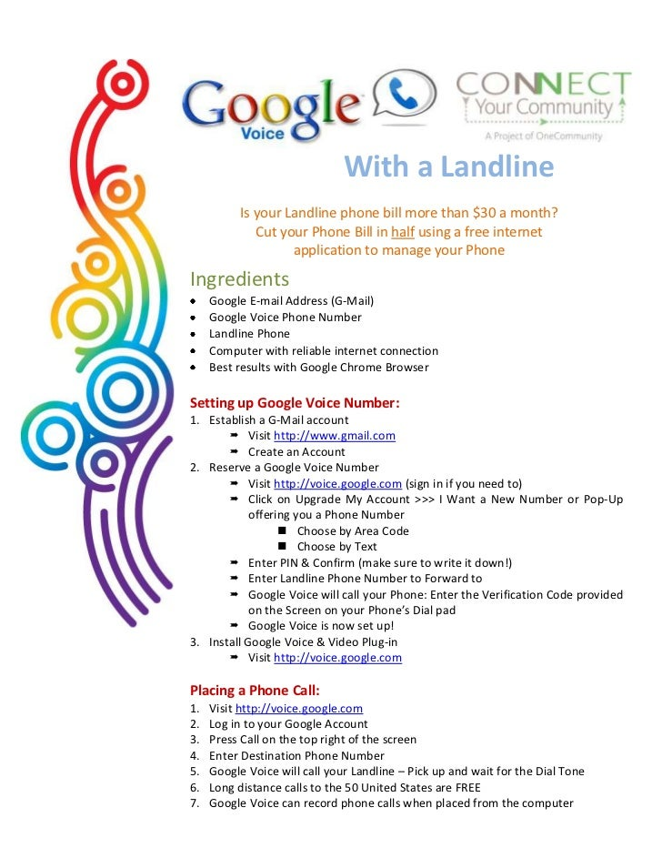 With a Landline           Is your Landline phone bill more than $30 a month?              Cut your Phone Bill in half usin...