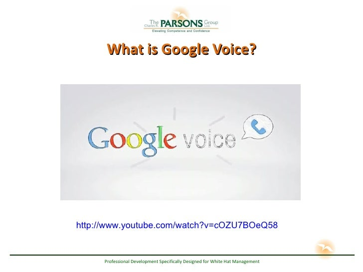 What is Google Voice? http://www.youtube.com/watch?v=cOZU7BOeQ58