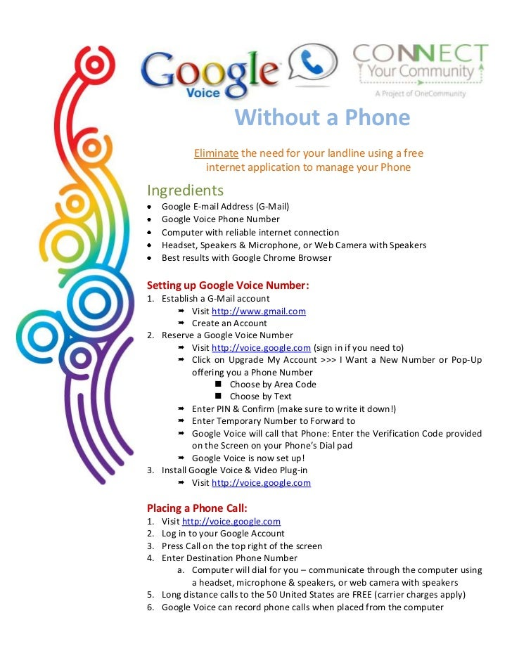 Google voice standalone