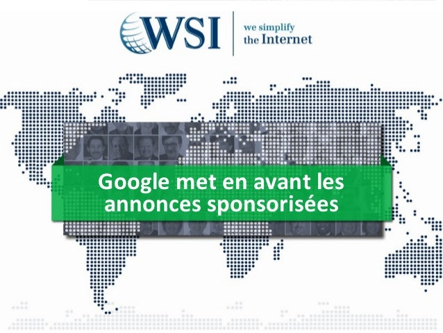 Google met en avant les  annonces sponsorisées