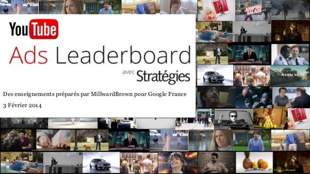 Des enseignements préparés par MillwardBrown pour Google France 3 Février 2014