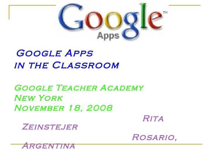 Google Apps in the Classroom
