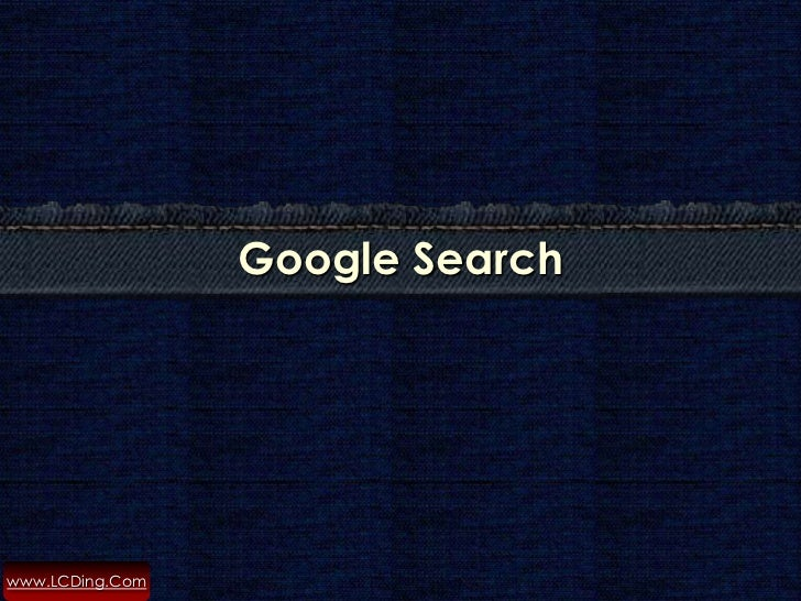 How to Search with Google ?