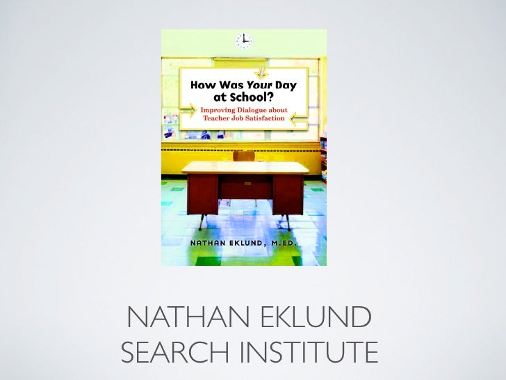 NATHAN EKLUND SEARCH INSTITUTE