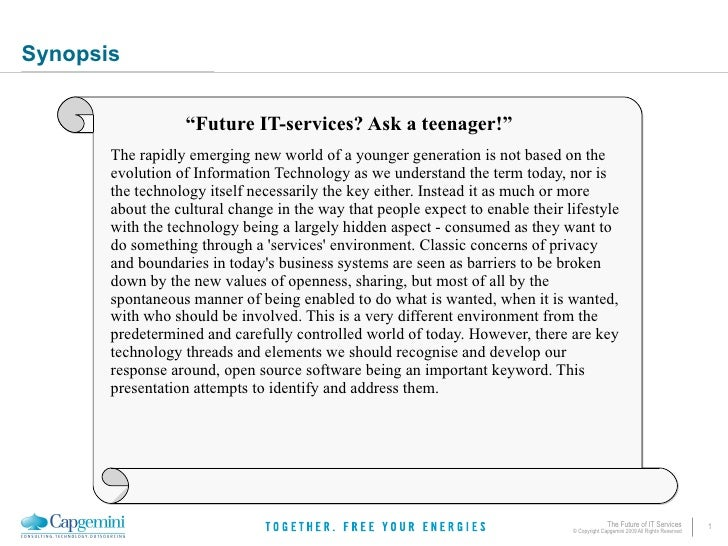 "Synopsis                     ""Future IT-services? Ask a teenager!""        The rapidly emerging new world of a younger gene..."
