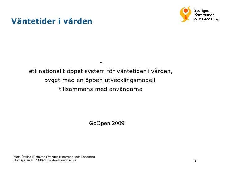 Mats Östling: Løsning for ventelister i helsesektoren