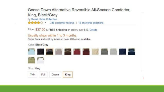 Goose Down Alternative Reversible All Season Comforter