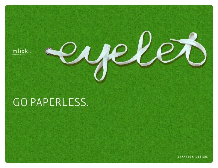 Encouraging Paperless Adoption in Financial Services