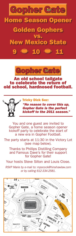 Gopher gate invitation