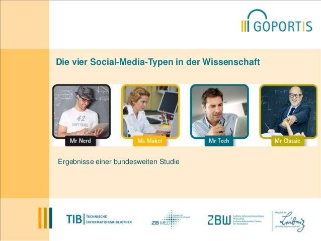Die vier Social-Media-Typen in der Wissenschaft  Ergebnisse einer bundesweiten Studie