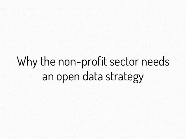 Why the non-profit sector needs an open data strategy