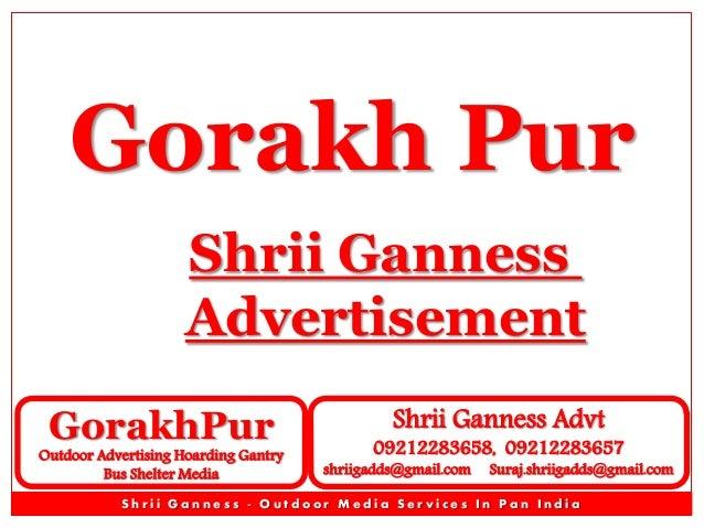 Gorakh Pur Shrii Ganness Advertisement GorakhPur  Outdoor Advertising Hoarding Gantry Bus Shelter Media  Shrii Ganness Adv...