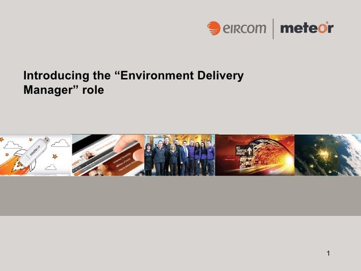 """Introducing the """"Environment DeliveryManager"""" role                                        1"""