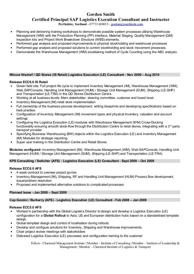 find the best sap mm consultant resume samples - Sap Mm Consultant Sample Resume