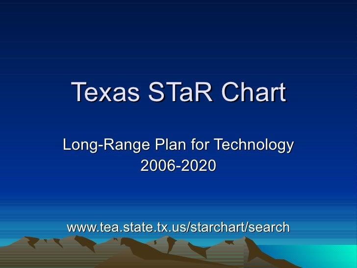 Texas STaR Chart Long-Range Plan for Technology 2006-2020 www.tea.state.tx.us/starchart/search