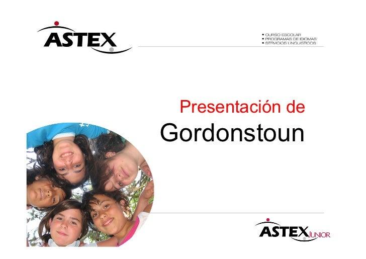Presentación deGordonstoun
