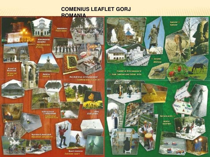 COMENIUS LEAFLET GORJ ROMANIA